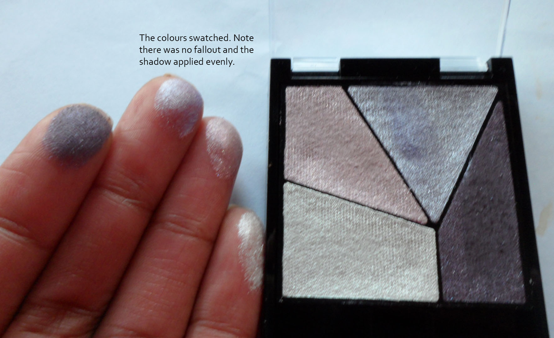 Swatched, the quad reveals very pretty shimmery shades.