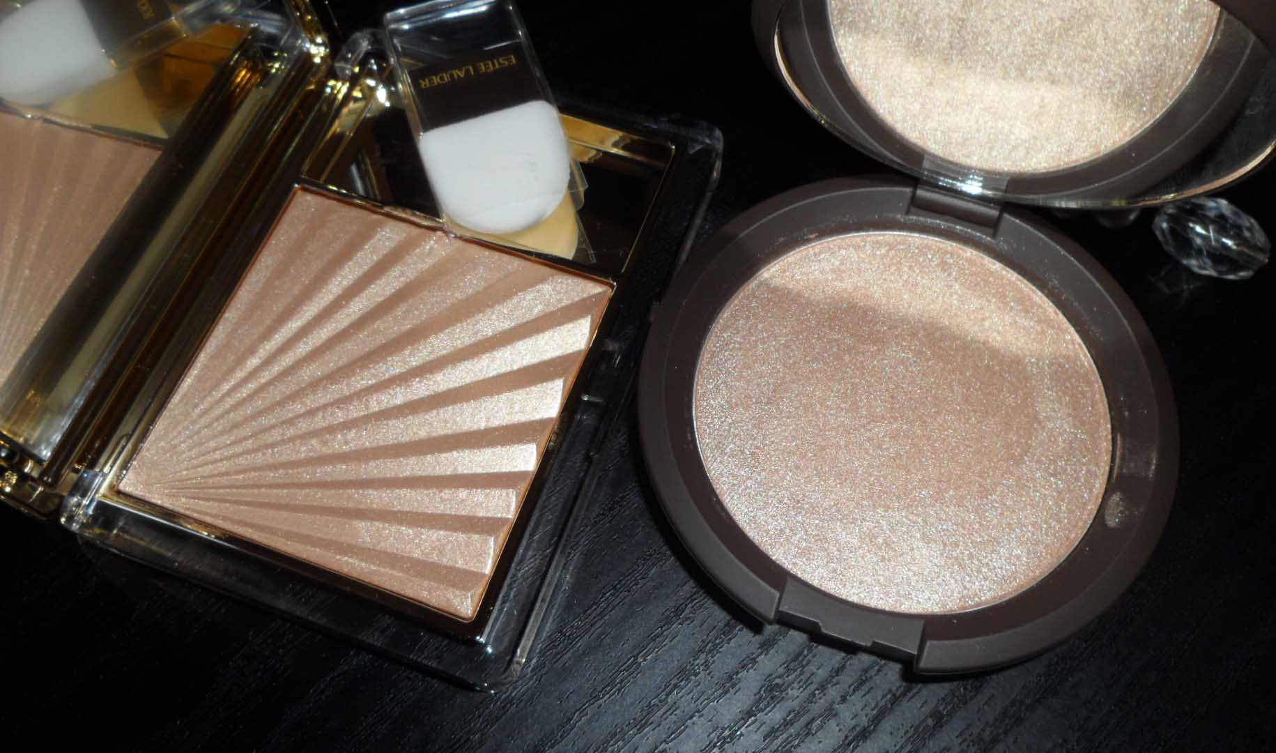 Estee Lauder Heat Wave and BECCA Shimmering Skin Perfector
