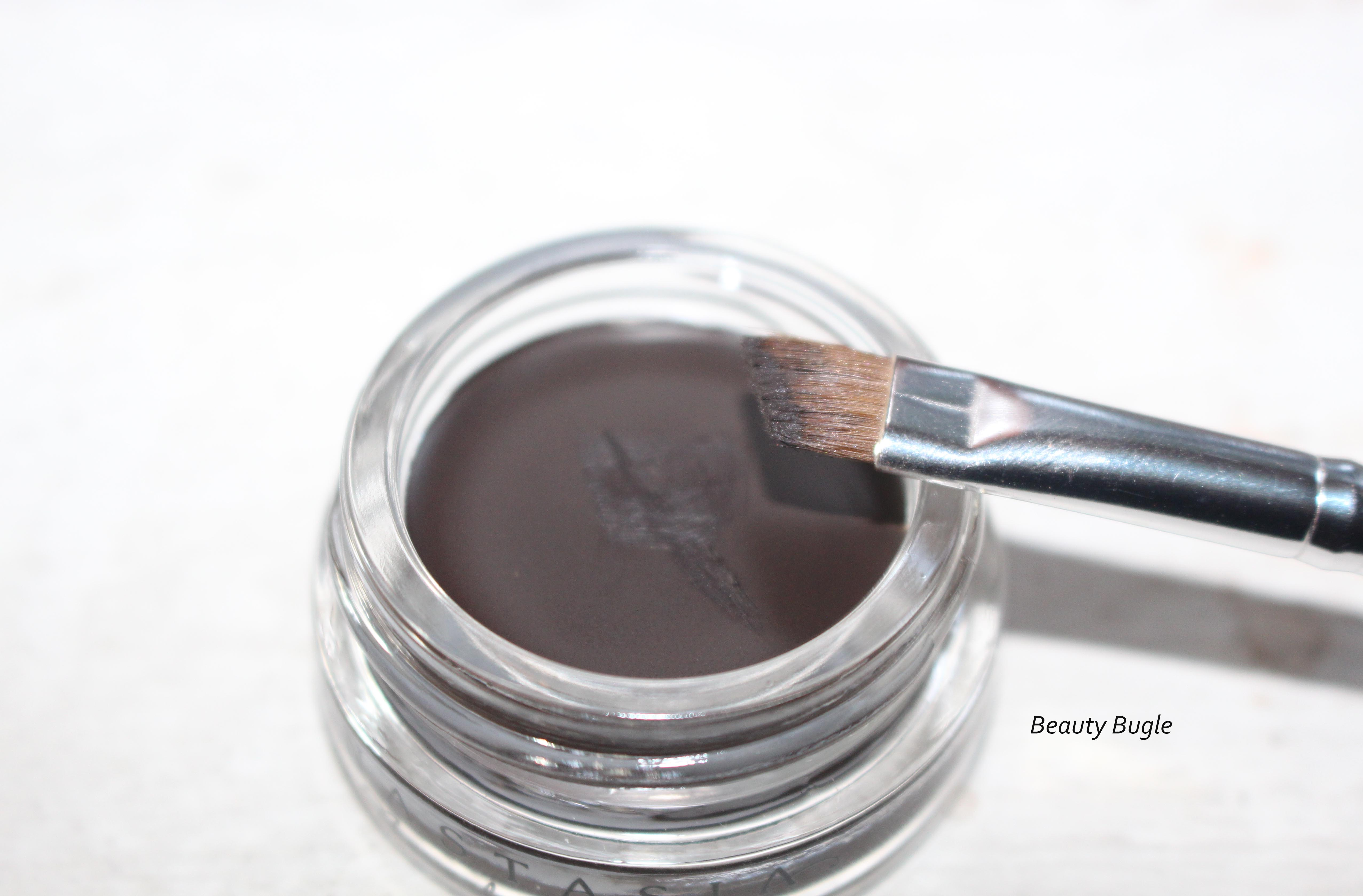 Any small angle brush will do with this product and the amount I have on the brush can do both my brows . . . for real