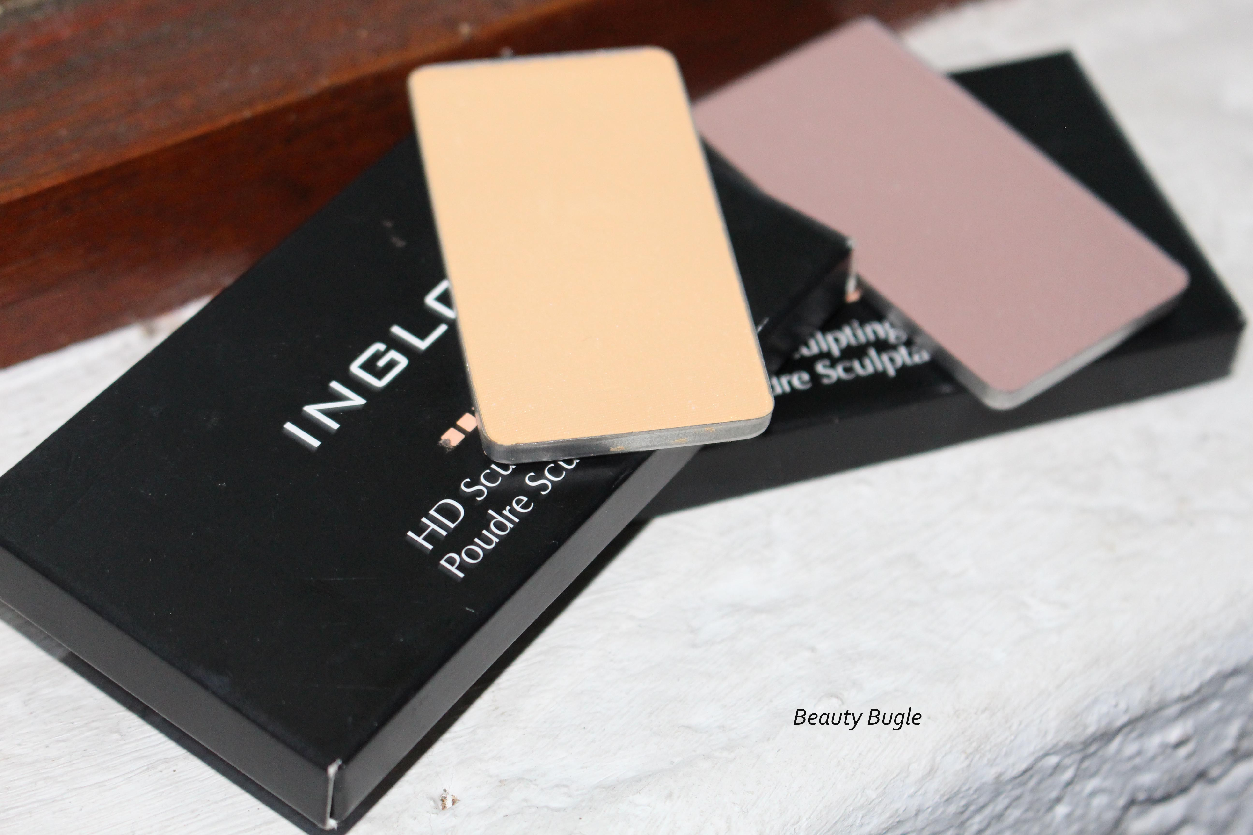 Inglot Pro Sculpting HD powders in 501 and 504