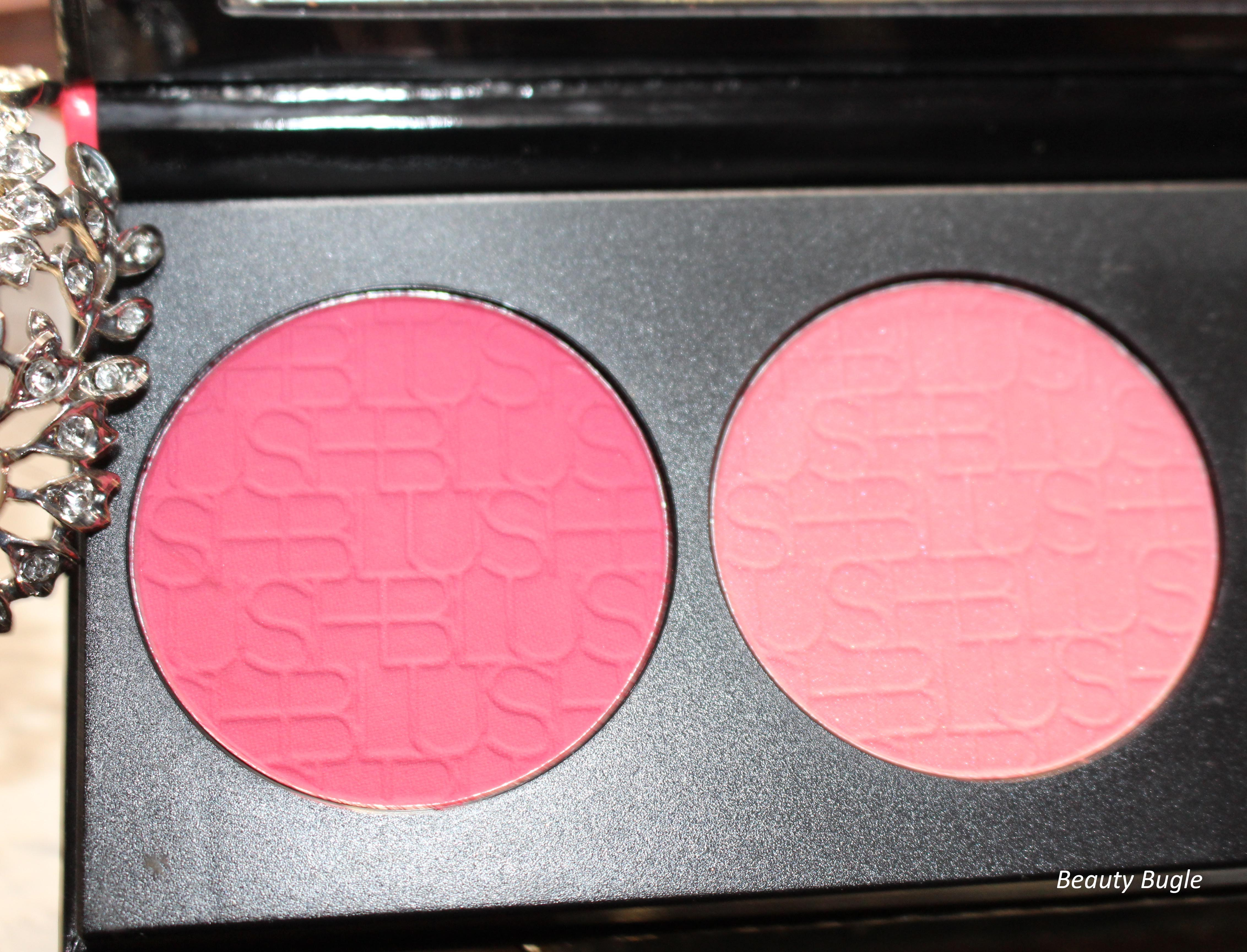 Review La Girl Blush Brick Glam Beauty Bugle Eye Shadow The Hot Pink And Pale Topper