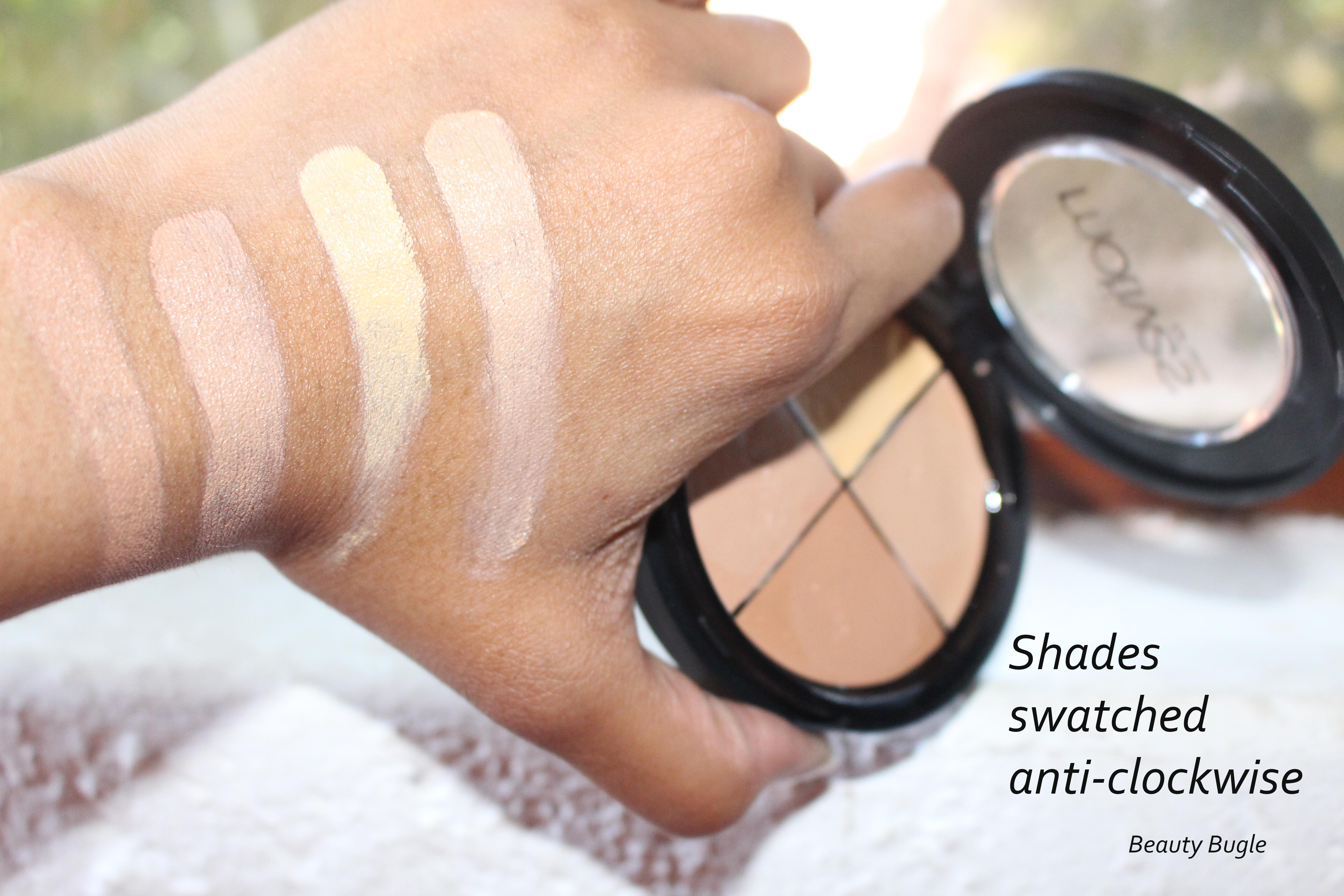 The Motives Perfection Quad in Medium doesn't offer the depth of contour colours. The deepest shade is not dark enough to sculpt the cheekbones.