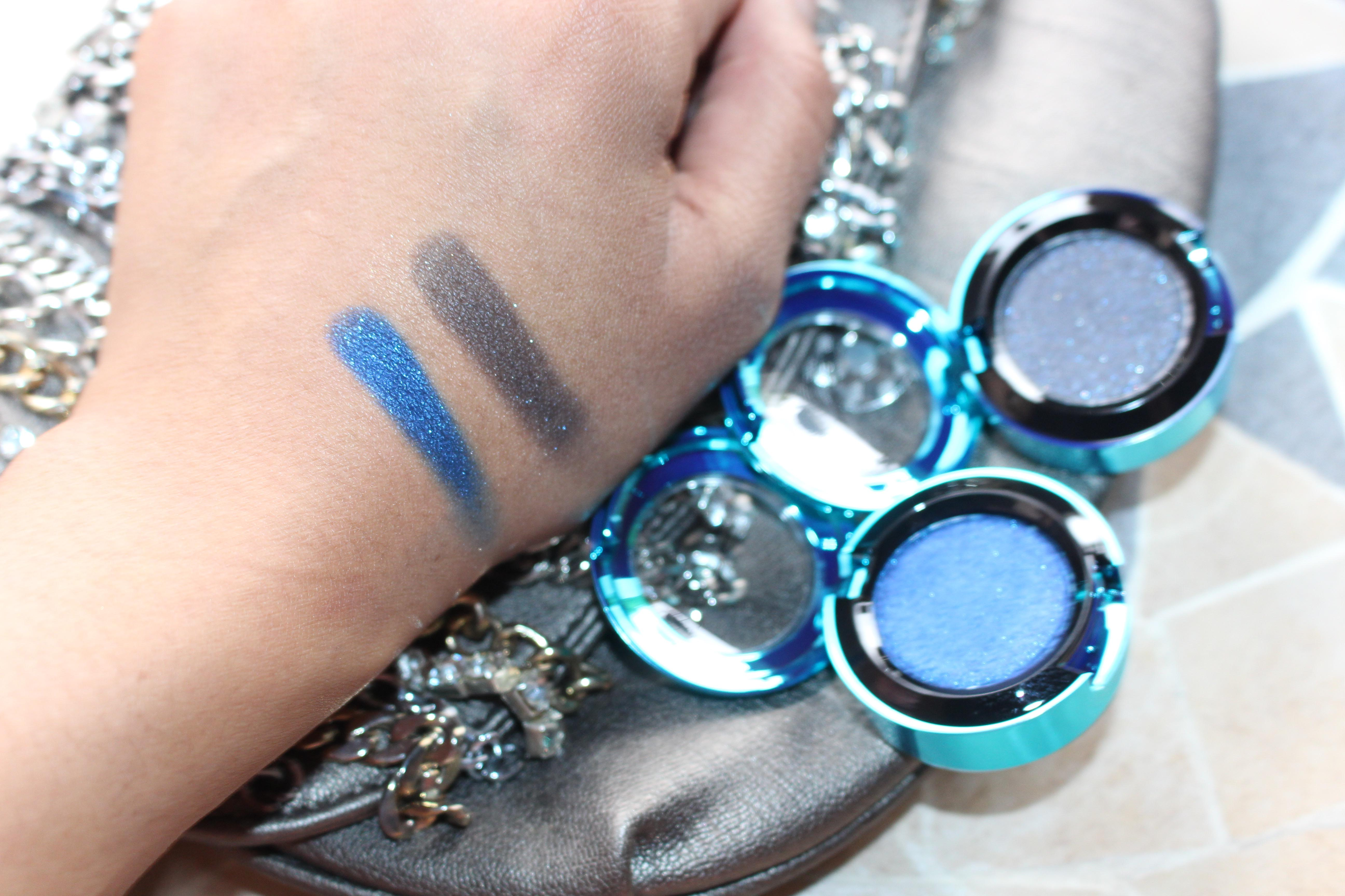 Moon is Blue (bottom) No Taboos swatched.