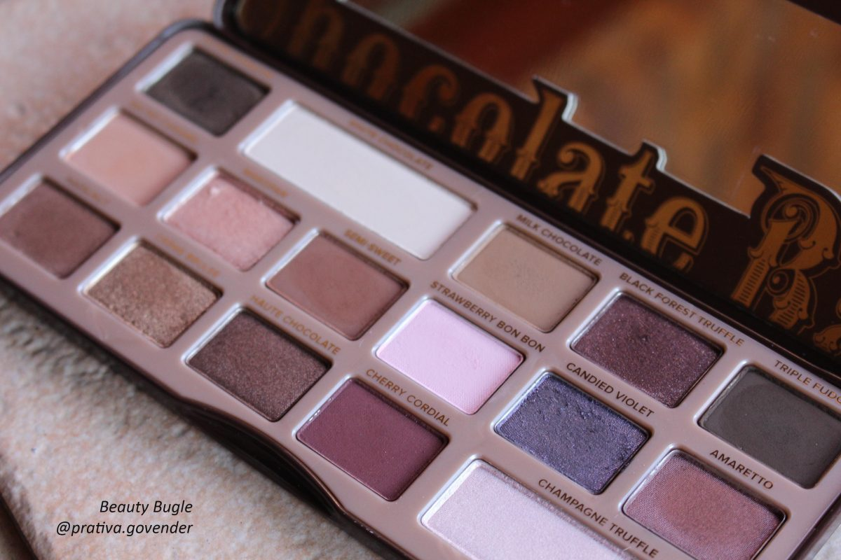 Too Faced Chocolate Bar palette has 16 shades