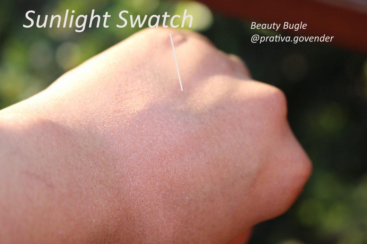 lorealblushsunlightswatch